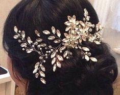 Pièce de cristal peigne mariée cheveux peigne mariage cheveux peigne mariée peigne mariée casque cristal coiffe mariée cheveux morceau de cheveux de mariage