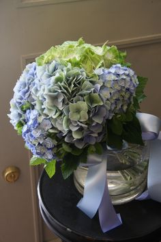 WAS perfect combination of  hydrangeas before, but don't think it would look as good now. STILL in the running.