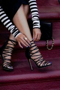Strappy heels by flossie