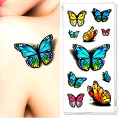 1b737907a Look what I found on AliExpress 3d Tattoos, Temporary Tattoos, Tatoo,  Butterfly Flowers