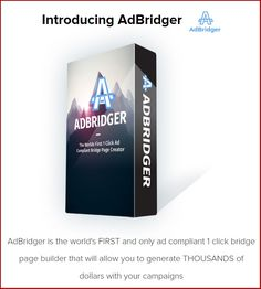 Ad Bridger Review+BEST AdBridger BONUS+Discount-Create Stunning Ad Compliant Bridge Pages In 2 Mints Warrior Forum Classified Ads