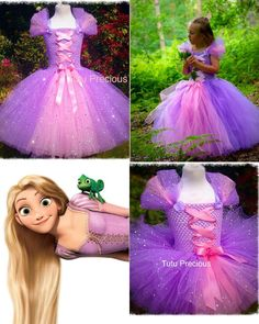 Disney Inspired Tangled, Princess Rapunzel Tutu Dress - Dressing up / Costume in Clothes, Shoes & Accessories, Fancy Dress & Period Costume, Fancy Dress