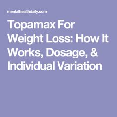 topiramate dose for weight loss
