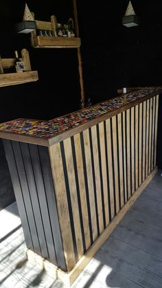 Diy Outdoor Bar, Outdoor Rooms, Outdoor Furniture, Outdoor Decor, Summer House Interiors, Outside Bars, Gin Bar, Welcome To My House, Man Cave Home Bar