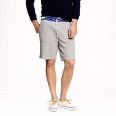at jcrew.com link: https://www.jcrew.com/mens_category/teesfleece/sweatshorts/PRDOVR~09613/09613.jsp Color: graphite Size: medium (according to the reviews they run very large)
