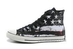 d0431751b72d 2014 Cool Converse American Flag High Tops Black Red White Graffiti Print  Chuck Taylor All Star Canvas Sneakers   Converse flag shoes and converse  platform ...