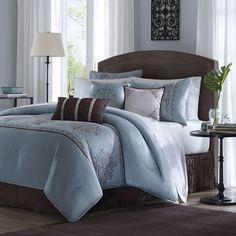 walmart: luxury home jardin 8 piece comforter set love this