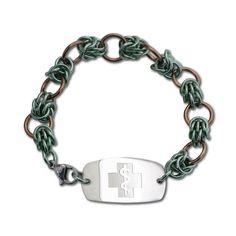 Single Dragon Claw Bracelet - Small Emblem - Lobster Clasp - Sage Ice & Champagne Ice