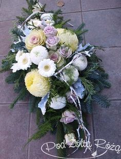 Funeral Flower Arrangements, Funeral Flowers, Floral Arrangements, Fall Flowers, Pretty Flowers, Wedding Flowers, Grave Decorations, Cemetery Headstones, Topiary