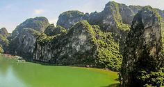 Karst scenery in Ha Long Bay. Ha Long Bay, North Vietnam, Hanoi, Scenery, River, Vietnam Travel, Outdoor, Outdoors, Landscape