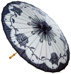 Retro A Go Go Gothic Beauty Parasol