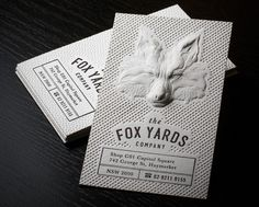 3D Embossed Business Cards !