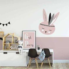 nl - Muursticker konijntje roze voor de kinderkamer – Hip Huisje Verkrijgbaar in diverse kleuren - Big Girl Bedrooms, Girls Bedroom, Cool Kids Rooms, Baby Room Design, Room Carpet, Girl Room, Playroom, Inspiration, Barn