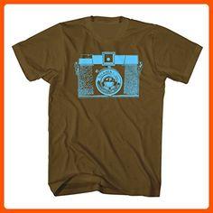 I Heart Analogue Men's Diana Camera Shirt. Brown. Small. - Cool and funny shirts (*Amazon Partner-Link)