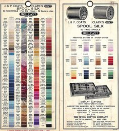 1935 silk color card Coats & Clarks by Embroiderist, via Flickr