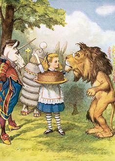 Alice in Wonderland: 32x 7x5 illustrations by John Tenniel · Retro ...