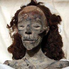 Queen Tiye - the great wife of King Amenhotep III - a very powerful woman in her time. Mother of Akhenaton, the heretic pharaoh