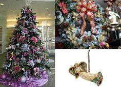 Tendencia para decoración de Navidad 2013 purpura, fuccia y plateado.