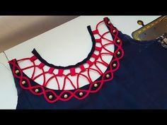 Easy & Simple | Kurti | Blouse | suit | Neck Design - YouTube Blouse Back Neck Designs, Chudithar Neck Designs, Salwar Neck Designs, Churidar Designs, Neck Designs For Suits, Kurta Neck Design, Neckline Designs, Fancy Blouse Designs, Designs For Dresses