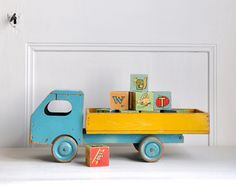 wooden toy truck:  I used to have a red one.