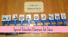 Special Education Classroom Job & Money Math | I like how she made her job chart.