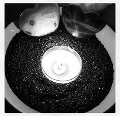 Happy Black Moon! #newmoon #mooncycle #dark #black #new #second #moon #night #intention #moonstone #rainbow #candle #light #sand #photo #pigpaint