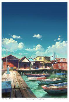 penang chew jetty by FeiGiap on DeviantArt
