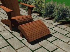 Adirondack Footrest Plans - Furniture Plans Furniture Plans, Outdoor Furniture, Outdoor Decor, Adirondack Chair Plans, Foot Rest, Floor Chair, Sun Lounger, Woodworking Plans, Flooring