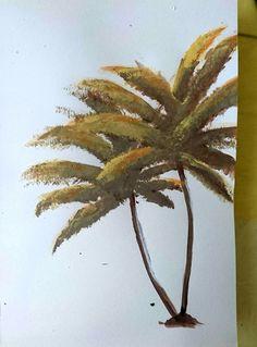Palm tree Acrylic on paper #palm #paint #diy #summer