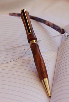 Wood Pen Hand Turned by handmadebyMarcyNTom on Etsy