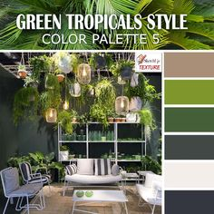 Green tropical style color palette 5