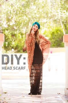 DIY Head Scarf by SWELL http://blog.swell.com/womens-style/diy-how-to-tie-a-head-scarf/ @SWELL