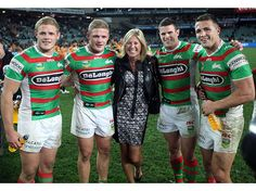 The Burgess family - South Sydney Rabbitohs. Record game of brothers in over 100 years