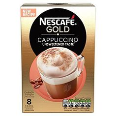 Nescafe Instant Cappuccino in Individual Pockets 3 Packs: Nescafe Instant Cappuccino 3 packs. Each pack consisting 10 sachets. Instant coffee with whitener and sugar. No hydrogenated vegetable oil. No artificial Flavours. Made with coffee beans. Gourmet Recipes, New Recipes, Gevalia Coffee, Coffee Sachets, Double Espresso, Cafe Style, Cafe Menu, Nescafe, Instant Coffee