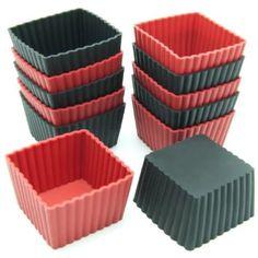 Amazon.com: Freshware 12-Pack Mini Square Silicone Reusable Baking Cup: Home & Kitchen