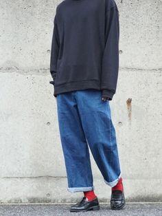 インスタ→suzu_042 Fashion Wear, Denim Fashion, Daily Fashion, Fashion Brand, Fashion Outfits, Outfits For Teens, Boy Outfits, Baggy Clothes, Vans Style