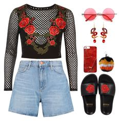 """""""San José"""" by mikaylaperrine ❤ liked on Polyvore featuring BUSCEMI, M.i.h Jeans, River Island, Fendi and Retrò"""