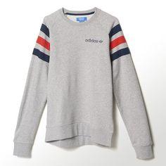 adidas - Sweat-shirt ajusté tissu éponge