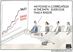 """Data is not insights. RT ""Big Data Analytics"" - new cartoon and post on correlation versus causation. Big Data, Data Data, Ap Psychology Review, Marketing Quotes, Media Marketing, Digital Marketing, Mobile Marketing, Marketing Strategies, Marketing Plan"