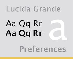 Lucida Grande and Lucida Sans are both commonly seen as the primary typeface for body text on various websites and blogs, Facebook being just one example. It's most recognizable, though, for its use throughout the user interface of Mac OS X.