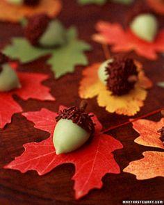 Marzipan acorns