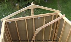 How to build a shed roof set end roof rafters