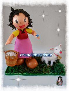 Muñequitas de goma eva Creacionesreme: Muñequita  Heidi ,en goma eva