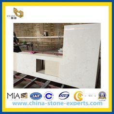 White Quartz Vanity Top for Bathroom, Hotel(YQG-CV1027)