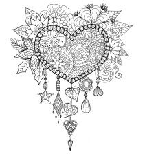 adult dreams catcher heart mandala zen coloring pages printable and coloring book to print for free. Find more coloring pages online for kids and adults of adult dreams catcher heart mandala zen coloring pages to print. Dream Catcher Coloring Pages, Heart Coloring Pages, Mandala Coloring Pages, Coloring Pages To Print, Printable Coloring Pages, Adult Coloring Pages, Free Coloring, Coloring Books, Coloring Sheets
