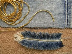 How to make feather handbag from old jeans – Easy Craft Ideas