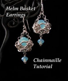 Chainmaille Earring Tutorials | Chainmaille Tutorial for Helm Basket Earrings PDF Instructions Only. $ ...