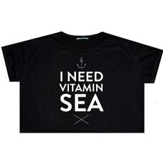 Vitamin Sea Crop Top T Shirt Tee Womens Funny Fun Tumblr Hipster Swag... (€13) ❤ liked on Polyvore featuring tops, t-shirts, black, sweater vests, sweaters, women's clothing, loose t shirt, loose crop tee, crop tee and black star t shirt Tumblr Hipster, Cool Tumblr, Crop Top Shirts, Tee Shirts, Crop Tops, Sweaters For Women, Women's Sweaters, T Shirts For Women, Clothes For Women