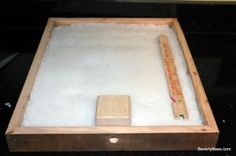 No cook sugar candy board for winter feeding of honeybees.