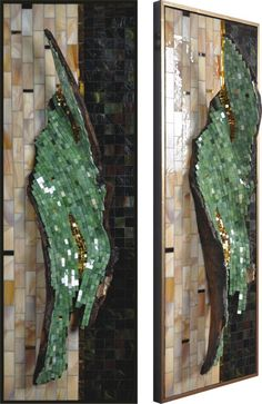 """Drifter"" How witty!! Mosaic on the back of a piece of driftwood!"
